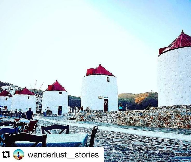 Summer #throwback! The windmills of Chora!