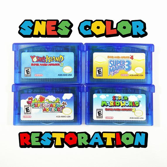Super Mario Advance Series 2 3 4 Color Restoration Gba With
