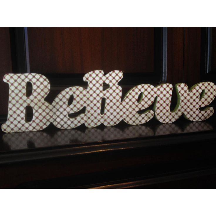 $25 Believe Christmas Word by NamedInStyle on Handmade Australia