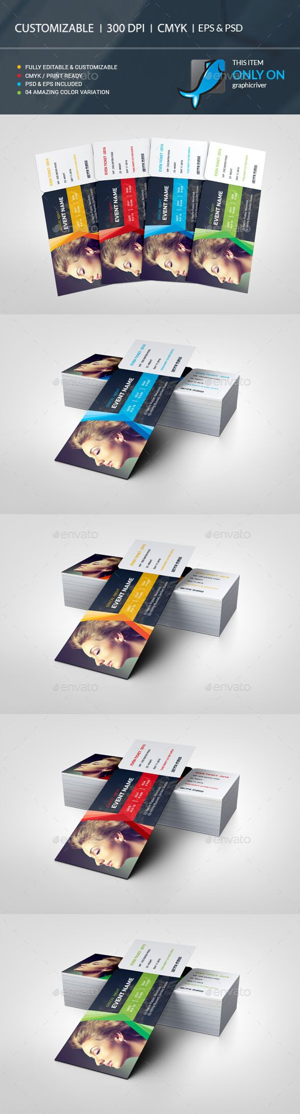 Ticket Template PSD, Vector EPS, AI Illustrator. Download here: https://graphicriver.net/item/ticket/17437057?ref=ksioks