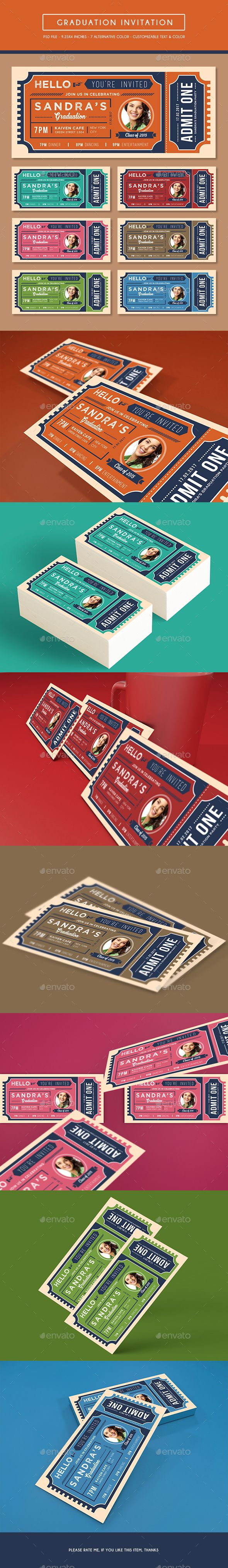 Best Birthday Invitation Templates Images On Pinterest - Birthday invitation template graphicriver