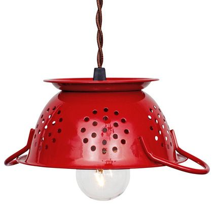 This colander pendant  light will add a burst of bold color and spark a conversation in your chef's kitchen. It's an especially fun choice f...