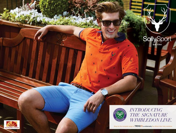 Introducing the signature #Wimbledon line by Solly Sport!  Now Playing: http://goo.gl/XV2lVa