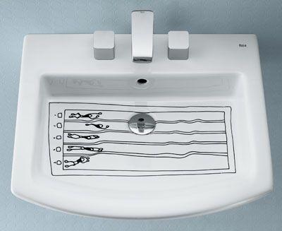 Javier Mariscal wash basins for Roca (2008)