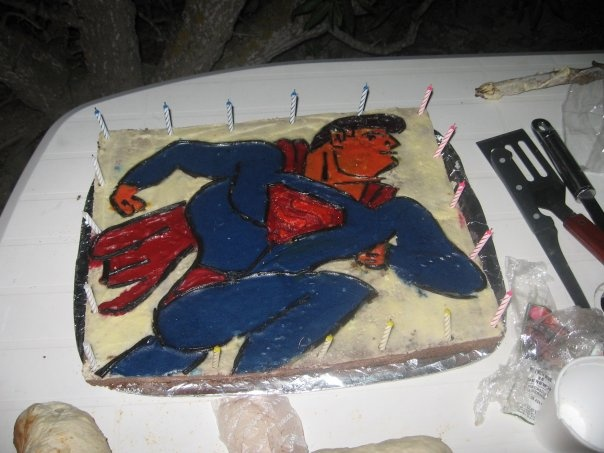 Superman cake for my 18th in 2006
