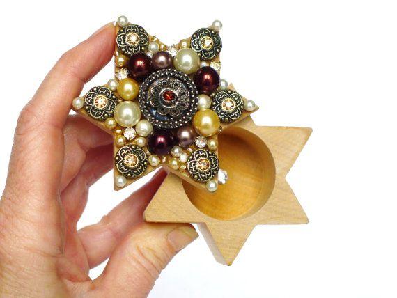 Schmuckkästchen Vintage Ring Box Shabby Chic von LonasART auf Etsy