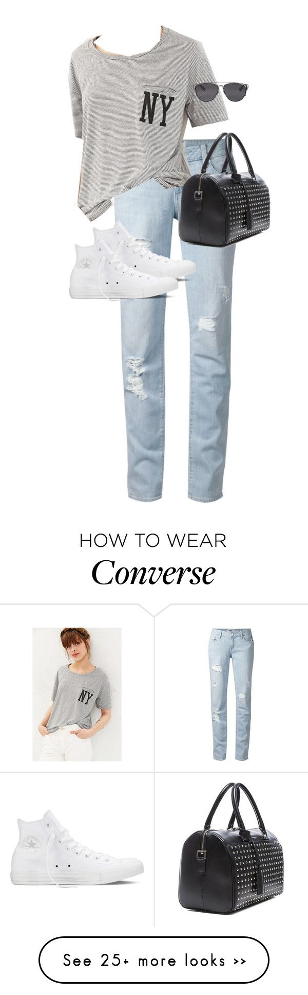 """Untitled #9721"" by alexsrogers on Polyvore featuring Paige Denim, BDG, Converse, Yves Saint Laurent and Christian Dior"