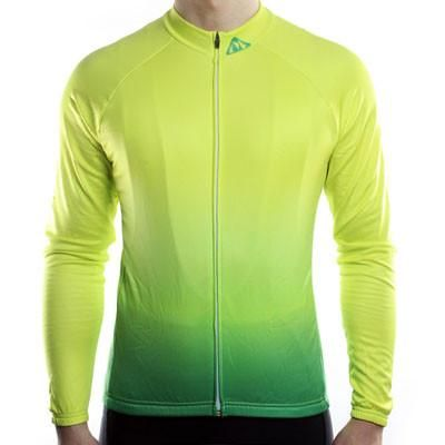 Fade Collection - Thermal Long Sleeve Cycling Jersey