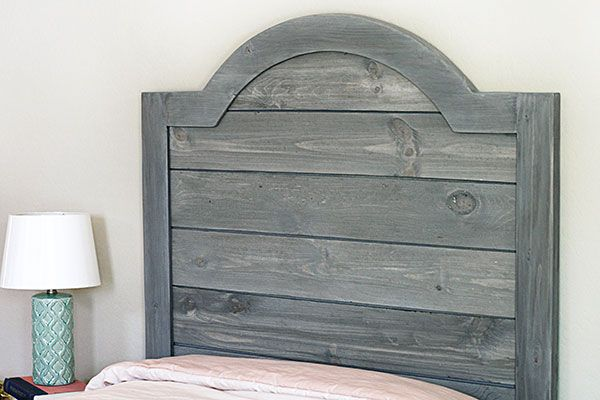 Diy Headboard Made With Faux Shiplap Panels Diy