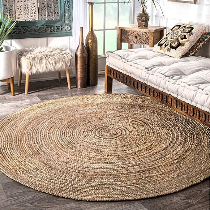 Buy Fernish Decor Jute Braided Rug Carpet Best For Bedroom Living Room 150 Cm Round Online At Low Prices In Jute Area Rugs Natural Jute Rug Jute Round Rug