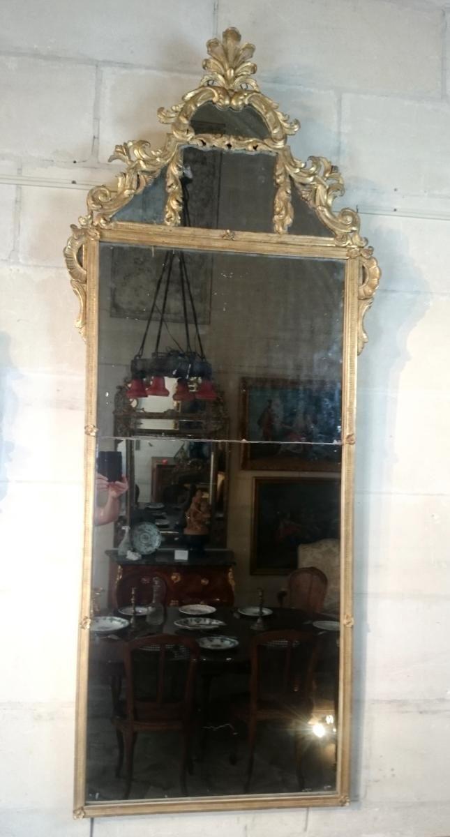 Miroir d'époque Régence Du Début Du XVIIIème Siècle – Vers 1715 - 1735, Serignan Antiquités, Proantic