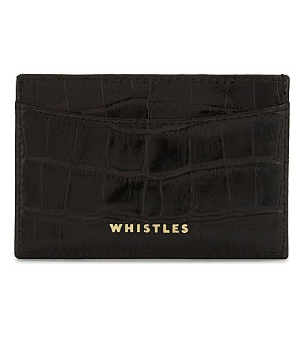 WHISTLES Croc-Embossed Leather Card Holder. #whistles #purses and pouches