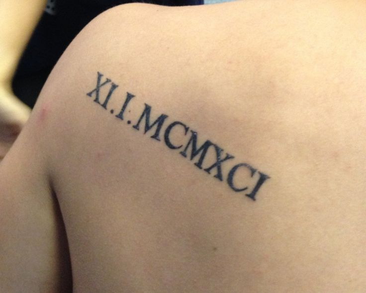 roman numeral fonts tattoo - Google Search