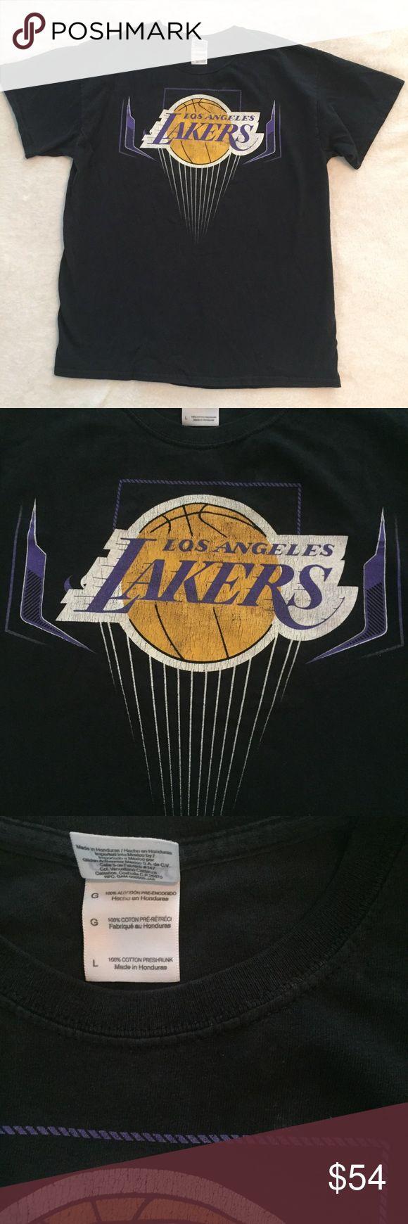 Vintage Laker Kobe Bryant NBA Tee Good condition. Worn in tee. Color is faded black. Lakers Shirts Tees - Short Sleeve