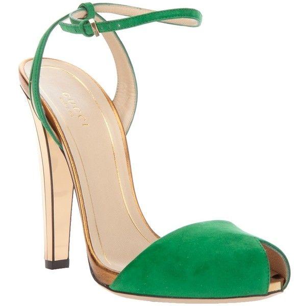 GUCCI peep toe sandal found on Polyvore