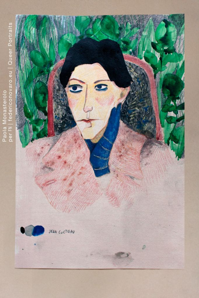 JEAN COCTEAU, di Paola Monasterolo. QUEER PORTRAITS, 22. - feat. Federico Boccaccini www.federiconovaro.eu
