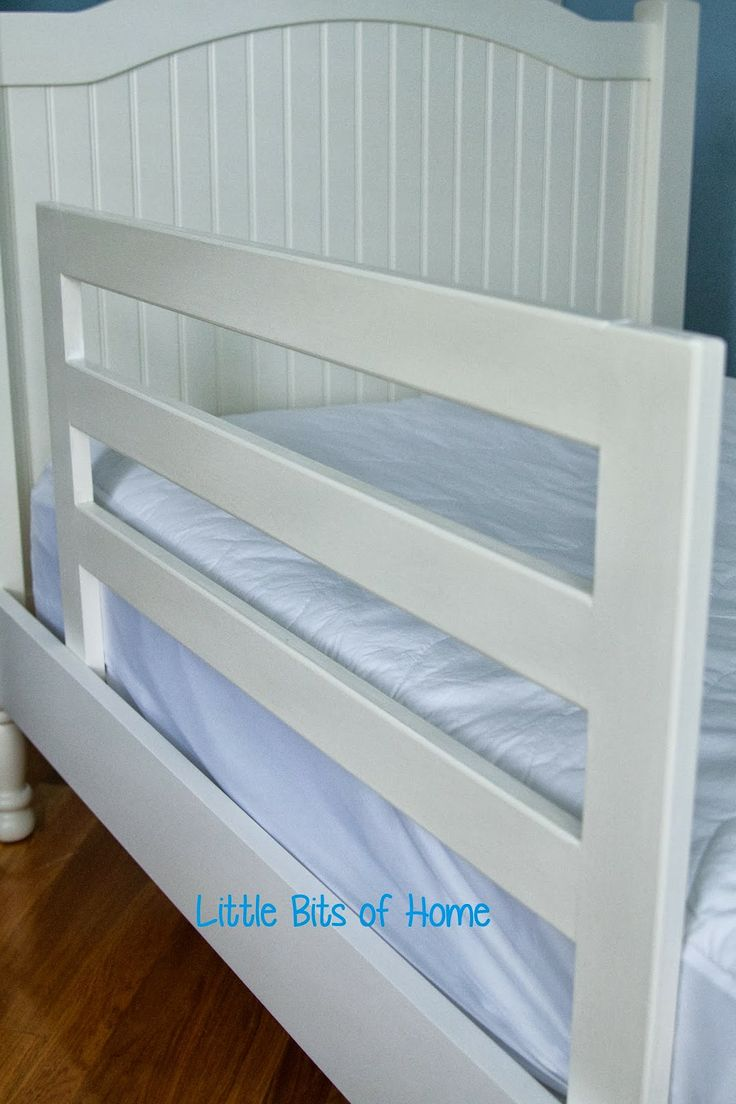 Baby bed fall prevention - Little Bits Of Home Pottery Barn Knock Off Bed Rails