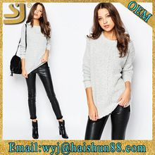Custom plain print winter knit latest cotton woolen designs pullover lady sweater Best Buy follow this link http://shopingayo.space