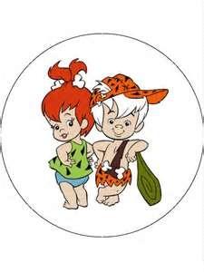 Bambam Flintstones 75 Round Edible Icing Cake Topper 3598 Pjpg