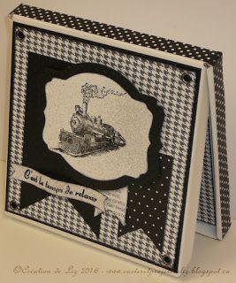 Cartes artisanales et autres projets artistiques de Liz: Ma première création pour 2016: une Boitatou pour un nouveau retraité