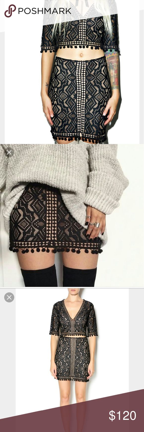 ⚡ FLASH SALE ⚡For Love and Lemons Florence Skirt For Love and Lemons Florence mini skirt with geometric lace and crochet lattice trimming. Polyester blend. 17.75 inches in length. For Love and Lemons Skirts