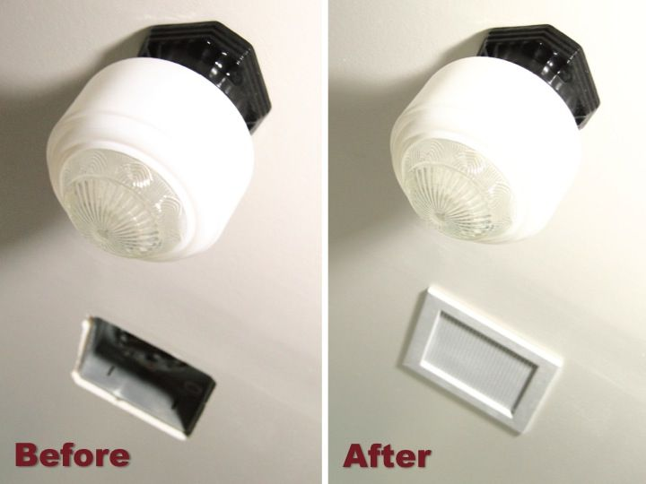 DIY Bathroom Fan Vent Cover - Blog - homeandawaywithlisa