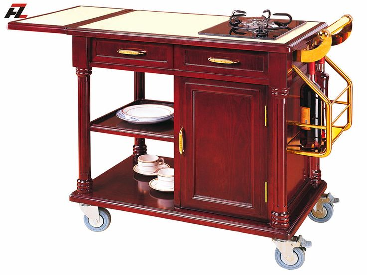 mobile kitchen cart island with drawers kitchen cart flambe cooking trolley pinterest. Black Bedroom Furniture Sets. Home Design Ideas