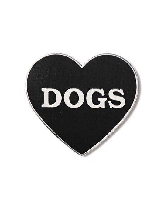 I Heart Dogs Pin - Black-Monsters Outside-Strange Ways