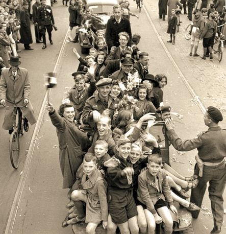 May, 1945. Liberation of The Netherlands by Canadian Troops. Thank you, Canada! #amsterdam #worldwar2