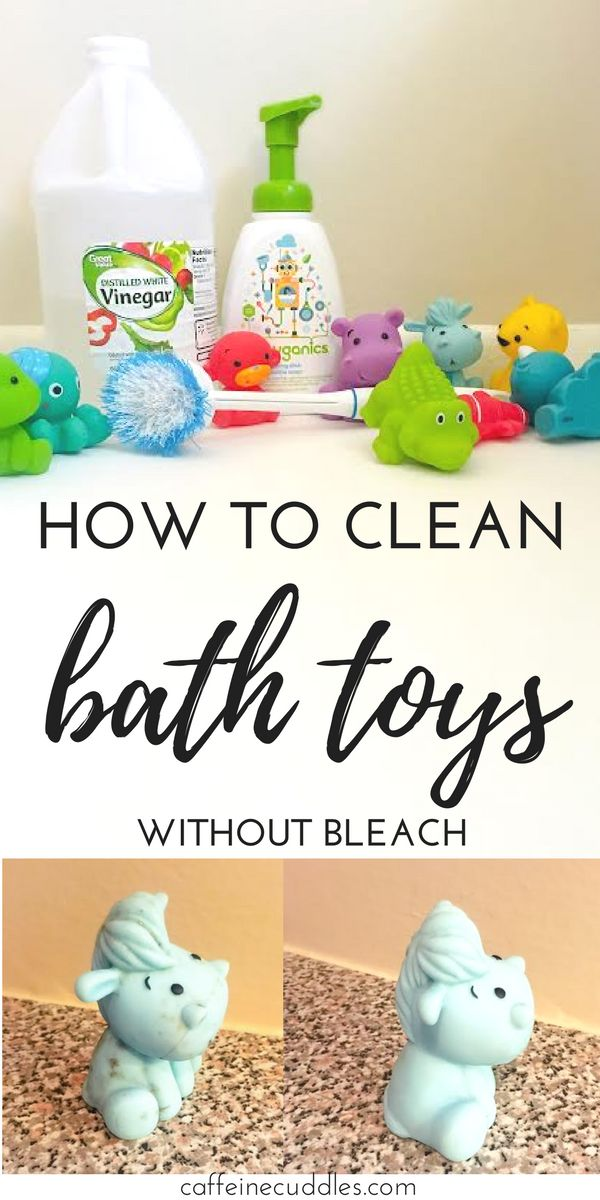 how to clean bath toys with bleach