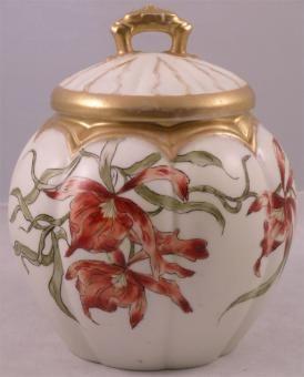 Biscuit Jar  Google Image Result for http://www.antiques.com/vendor_item_images/ori__94855083_1070427_Lmoge_Melon_Shaped_Biscuit_Jar_potpourri.jpg