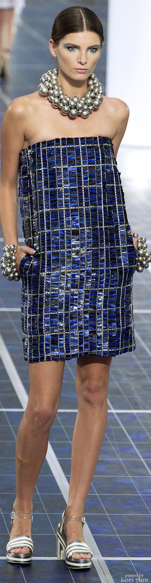 Chanel ~ Strapless Mini Dress, Navy