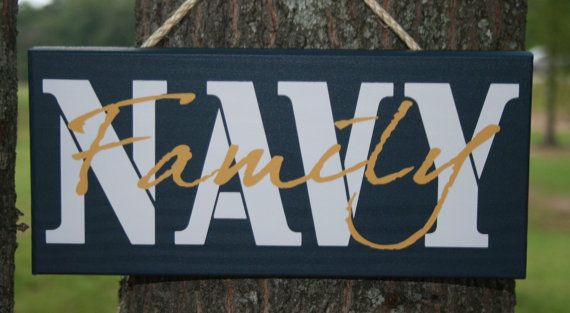 NAVY FAMILY sign  choose from:  Parents, Mom, Dad, or Family... Painted Military by KRCustomWoodcrafts, $19.00 size 5x12