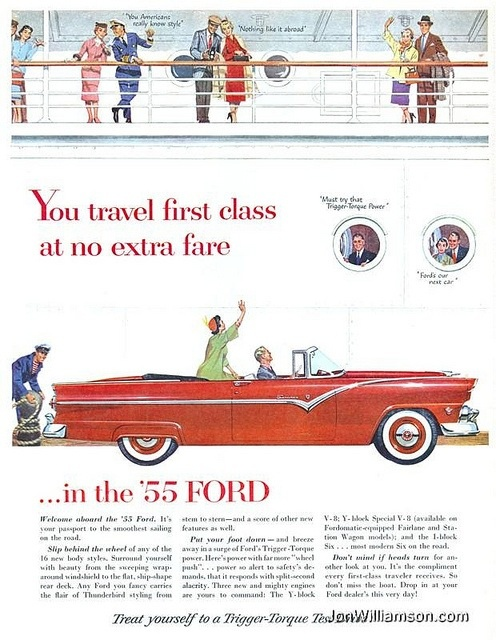 Vintage 55 Ford Ad I Remember Pinterest Cars And