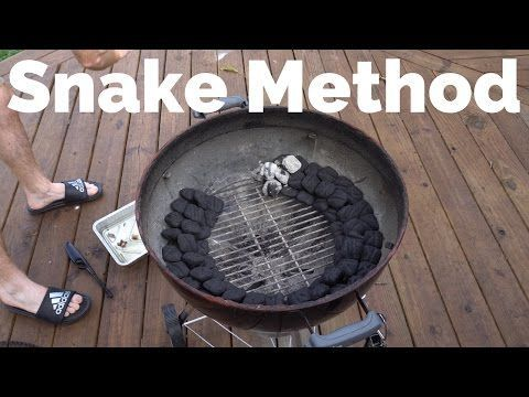 The Snake Method Of Lighting Charcoal On A Weber Smokey