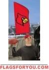 "Louisville Cardinals Tailgate Flag 42"" x 20"""