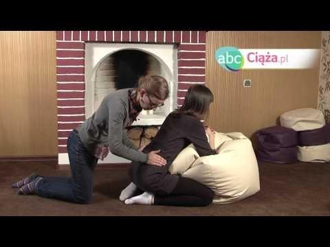 Zmniejszanie bólu porodowego - masaż pleców - YouTube