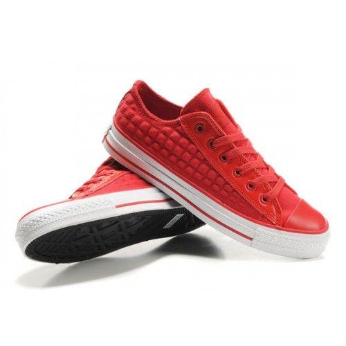 Nouveau-Rouge Converse All Star des hommes avec faible Bord toile de cuir  chaussures hommes - €72.18 : Chaussures Nike Air Max Pas Cher Solde | Nik…