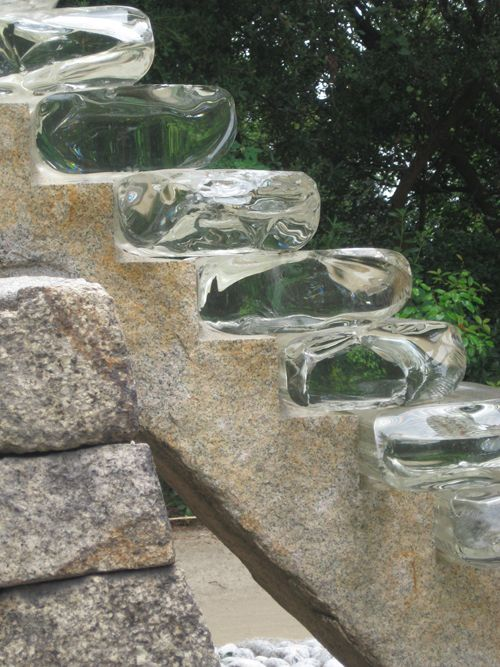 Glass stairs need to be walked on with matching glass slippers
