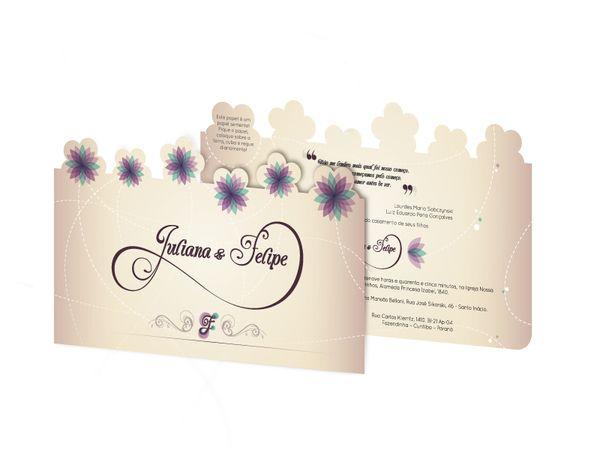 Spring Wedding Invitation - Seed Paper by Mauricio G. Teodoro, via Behance