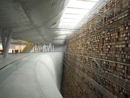 Stockholm Library Wall of Knowledge. I could just live here, you know with a lamp a comfy chair and a soda yep that's all I'd need...and maybe a translator