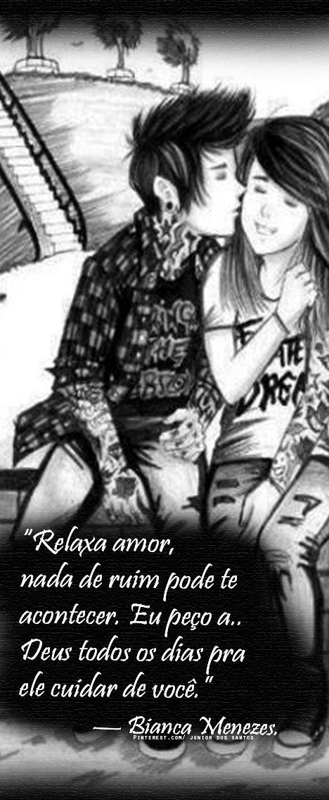 """""""Relaxa amor, nada de ruim pode te acontecer. Eu peço a Deus todos os dias pra ele cuidar de você."""" — Bianca Menezes."""