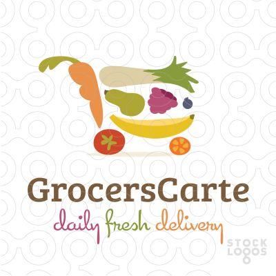 grocery shopping cart logo by NancyCarterDesign