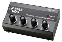 PylePro (PHA40) 4 Channel Stereo Headphone Amplifier