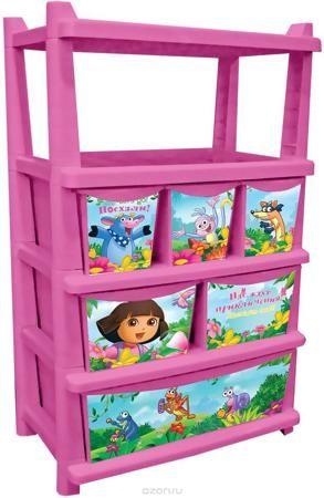 Little Angel Детский комод Даша путешественница 61 см цвет розовый  — 4386р.  Вместительный, современный и удобный дизайн комода идеально подойдет для детской комнаты. Сглаженные углы и облегченная конструкция комода безопасны даже для самых активных малышей. Яркие и сочные цвета комода станут прекрасным дополнением для детской комнаты. Детский комод 610мм отличается от остальных комодов особой вместительностью. 6 ящиков разного размера позволяют сортировать детские игрушки и вещи.