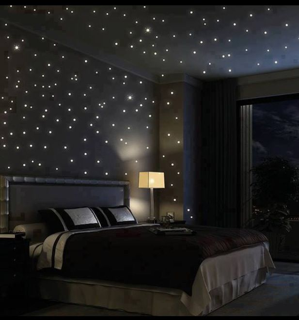 Starry night bedroom | Sleep well in a Swiss Sense boxspring <3
