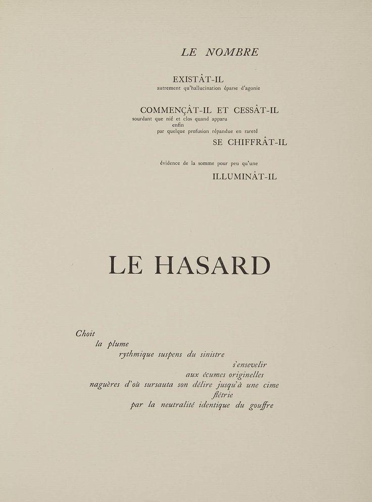Stéphane Mallarmé, graphic, typography