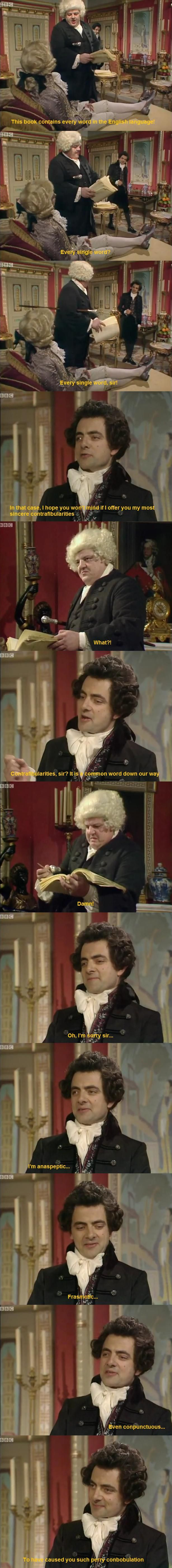 Just Blackadder, trolling before it was cool.