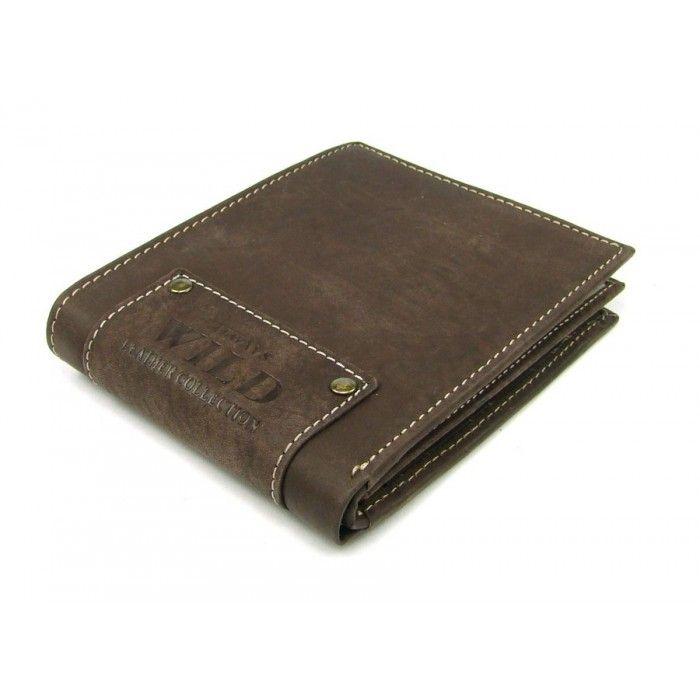 Peněženka hnědá pánská kožená - peněženky AHAL