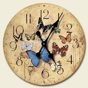 Butterfly Kitchen Canisters Round Wooden Wall Clock Butterfly Kitchen Decor Price 24 99 This